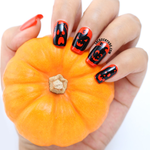Halloween Nail Art feat. piCture pOlish Sunset