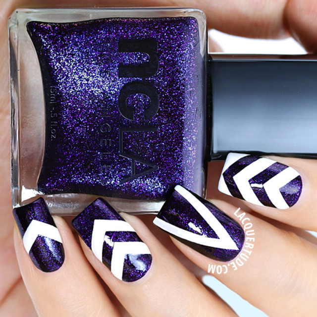ncLA Drop Dead Gorgeous Nail Art Macro