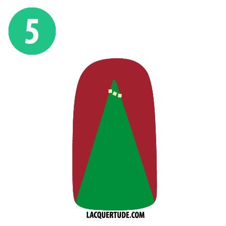 Lacquertude Christmas Tree Tutorial5