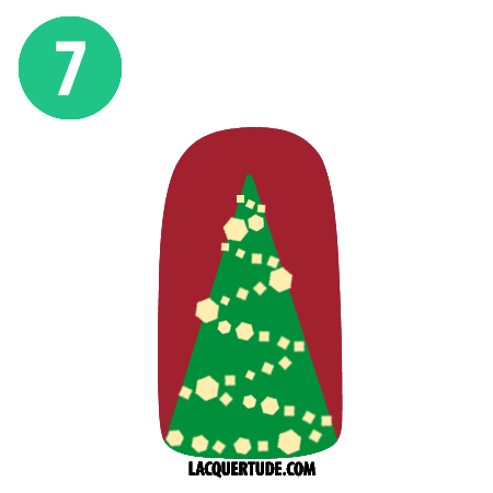 Lacquertude Christmas Tree Tutorial7