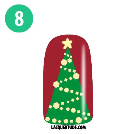Lacquertude Christmas Tree Tutorial8