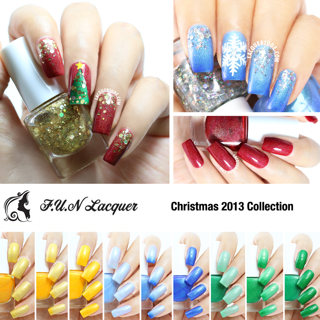 Christmas 2013 Nail Art: FUN Lacquer Christmas 2013 Collection: Swatches, Review
