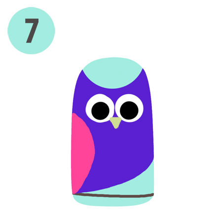 Lacquertude Owl Nail Art S7