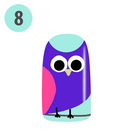 Lacquertude Owl Nail Art S8