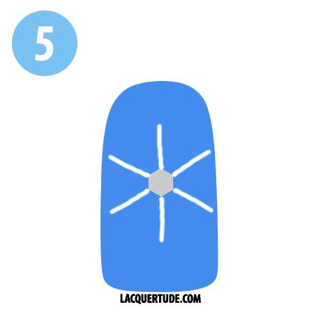 Lacquertude_Snowflake Tutorial 5