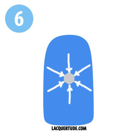 Lacquertude_Snowflake Tutorial 6
