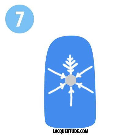 Lacquertude_Snowflake Tutorial 7