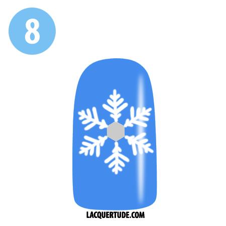 Lacquertude_Snowflake Tutorial 8
