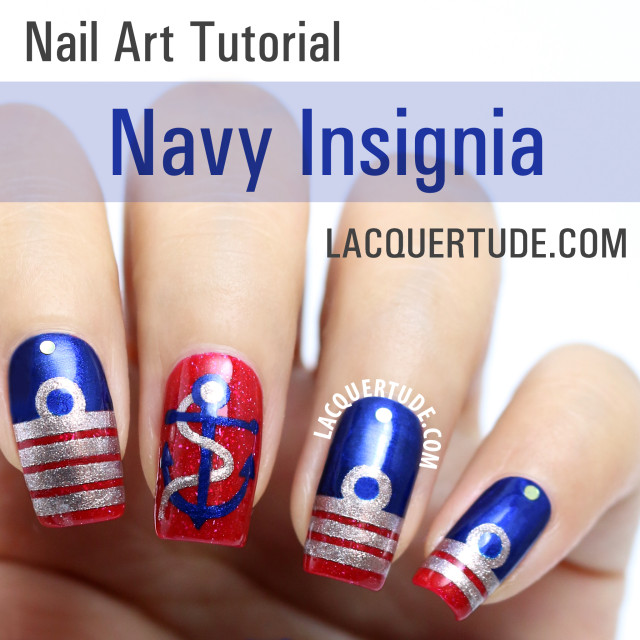Tutorial: Navy Insignia Nail Art