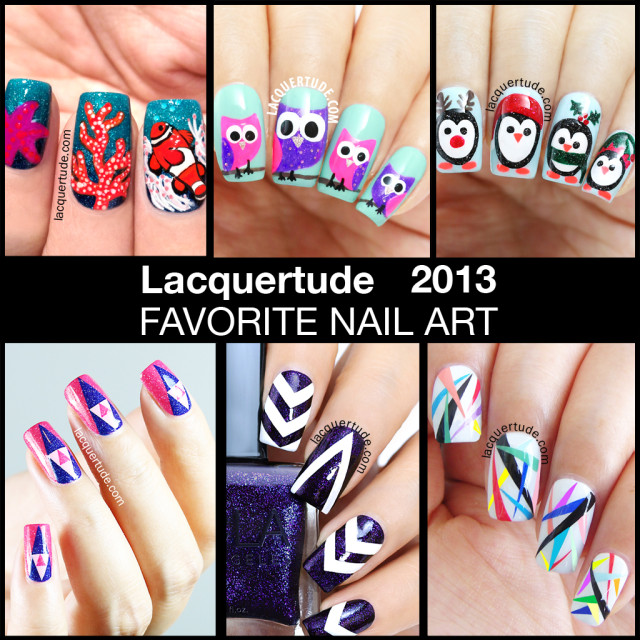 Lacquertude 2013 Top 10 Nail Art Favorites!