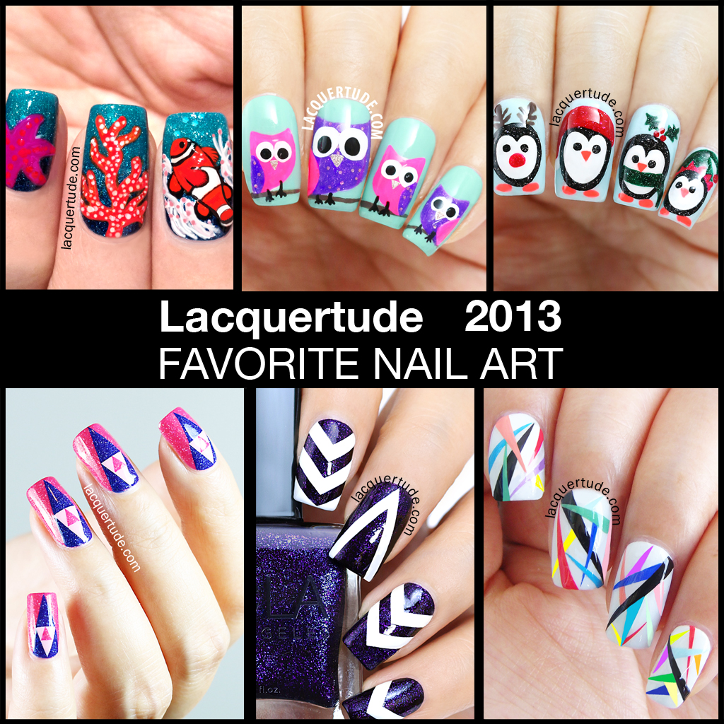 Lacquertude 2013 Nail Art Favorites