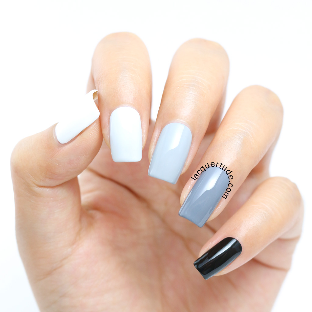 Lacquertude_Gray Ombre Nails1