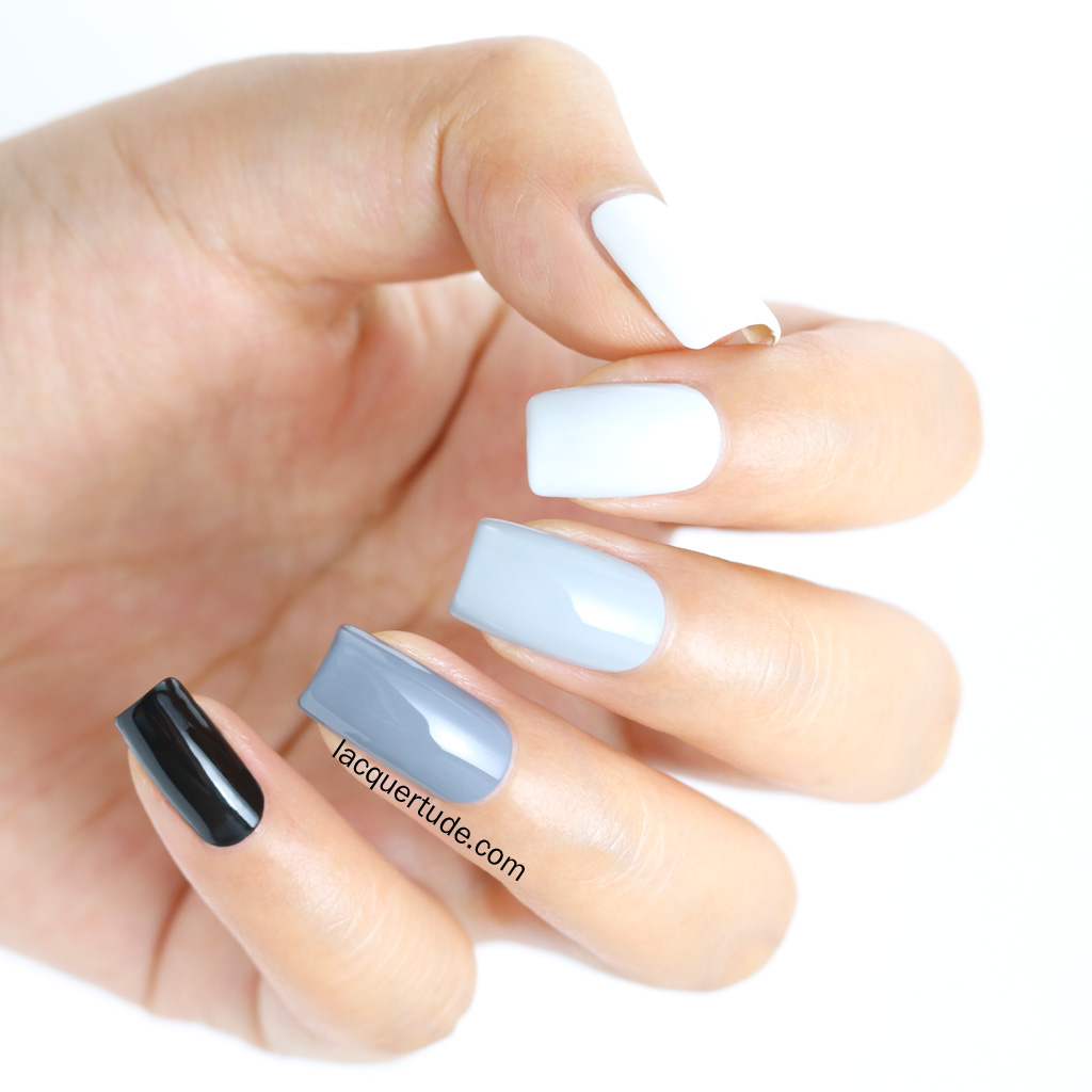 Lacquertude_Gray Ombre Nails2