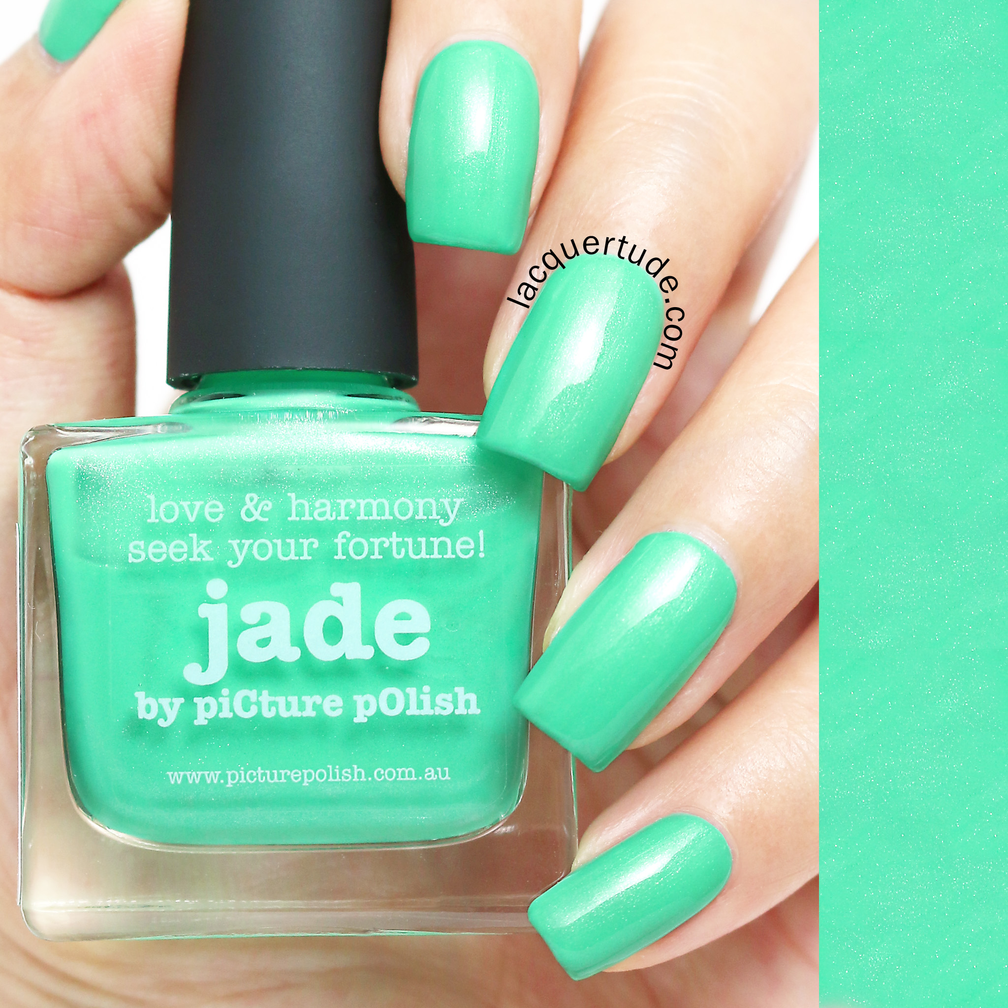 Lacquertude_Picture Polish Jade Swatch