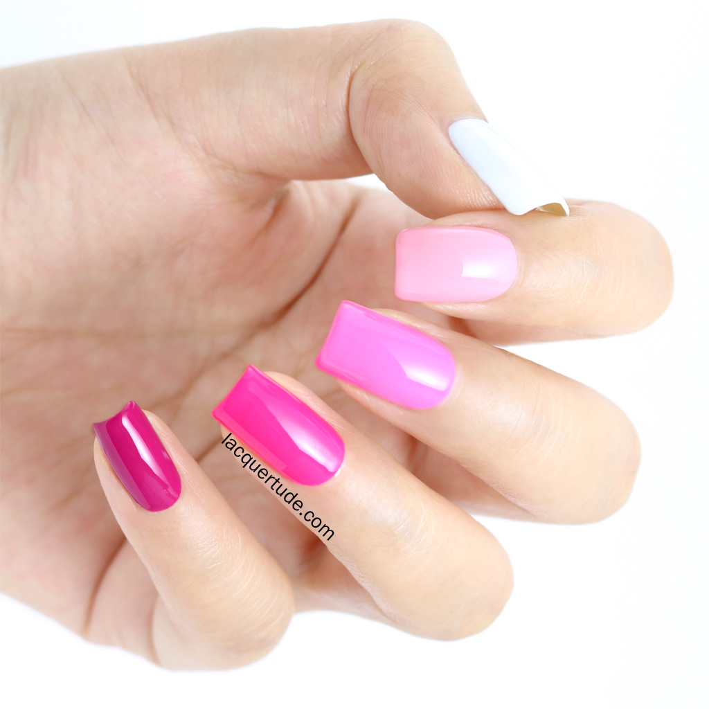 Lacquertude_Valentines Day Pink Ombre Nails2