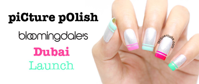 piCture pOlish Dubai Bloomingdales Official Launch Manicure: Dubai Pearls, created by Lacquertude :)