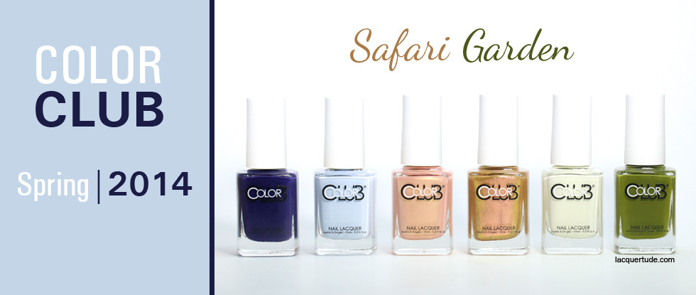Color Club Spring 2014 Safari Garden Collection Swatches & Review
