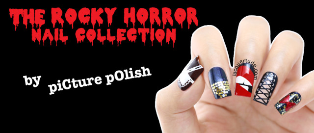 piCture pOlish Rocky Horror Show Nail Collection Swatches, Review, & Nail Art Feat. Columbia, Time Warp, Rocky, Frank-n-Furter & Magenta!