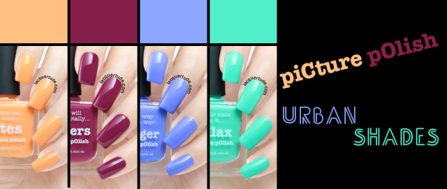 Picture Polish Urban Shades Swatches and Review: Chillax, Swagger, Totes & Bonkers