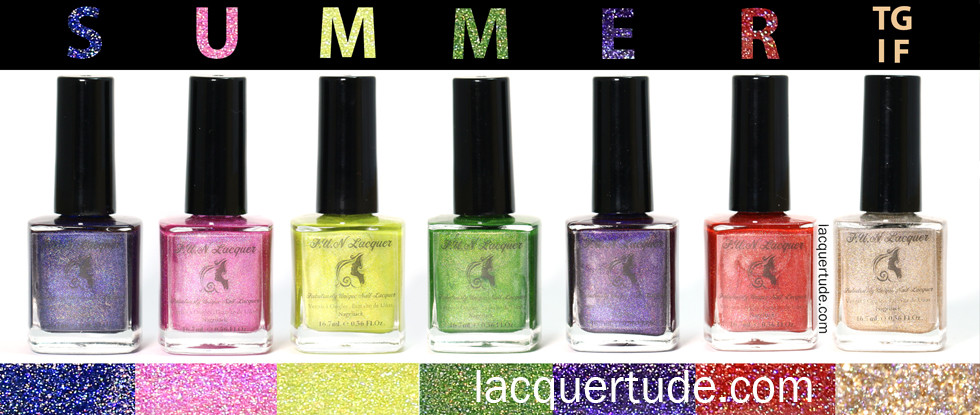 FUN Lacquer: Summer 2014 Holo Collection Swatches & Review