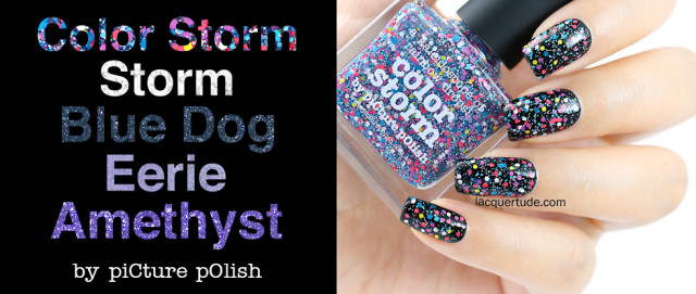 Picture Polish Swatches & Review: Color Storm, Storm, Blue Dog, Eerie & Amethyst