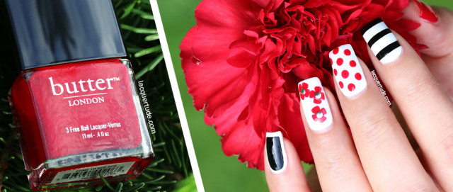 Red Petals Nail Art: Inspired by Fashion - Burberry Prorsum