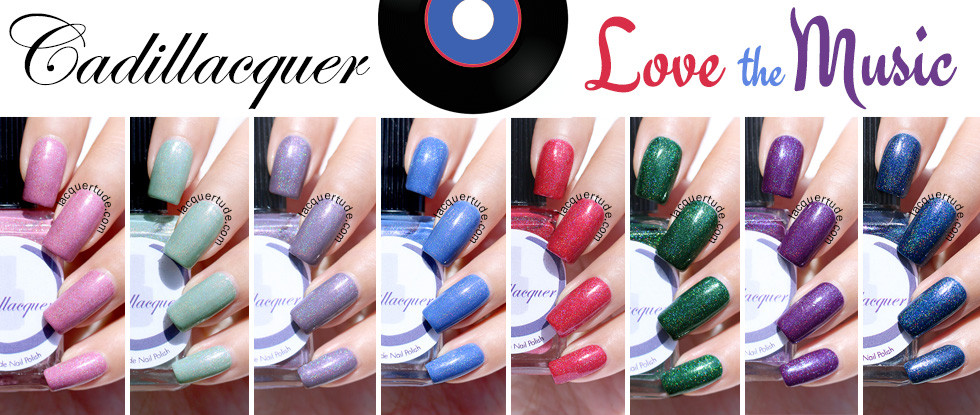 Cadillacquer Love The Music Collection Swatches & Review