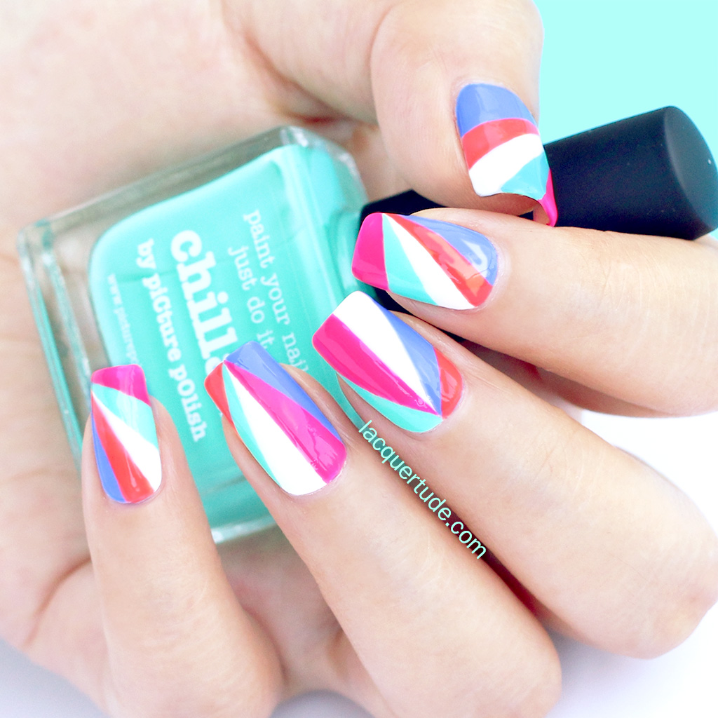 Lacquertude-Beaming-Triangles-Nail-Art-1